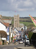 Flag Festival in Moretonhampstead Main Street Stock Photography