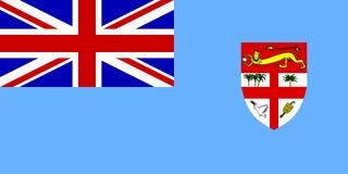 Flag of Fiji. National country symbol illustration Stock Photos