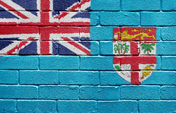 Flag of Fiji on brick wall Stock Photography