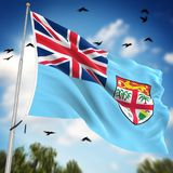 Flag of Fiji. This is a computer generated and 3d rendered image Royalty Free Stock Photos