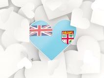 Flag of fiji, heart shaped stickers Stock Photography