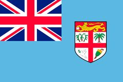 Flag Fiji Islands flat style. The icon of national symbol. Commonwealth sign in flat style on the entire page as vector illustration Royalty Free Stock Images