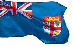 Flag of Fiji. Isolated on white Background royalty free stock photo