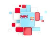 Flag of fiji, mosaic background Stock Photo