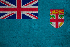 Flag. Fiji flag on an old grunge background Stock Photo