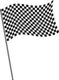 Flag on finish. Royalty Free Stock Image