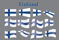 Flag of Finland. Set of flags of Finland vector illustration Royalty Free Stock Photos