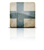 Flag Of Finland. Grunge style flag of Finland Stock Photos
