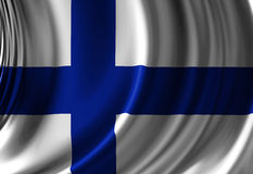 Flag of finland. Waving in the wind Royalty Free Stock Photos