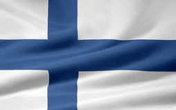 Flag of Finland. Very large version of a finnish flag Stock Photo