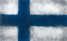 Flag of finland. Abstract background illustration - flag finland Stock Image
