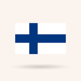 Flag of Finland. Accurate dimensions, proportions and colors. Vector Illustration Royalty Free Stock Photo