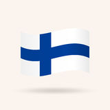 Flag of Finland. Accurate dimensions, proportions and colors. Vector Illustration Royalty Free Stock Photos