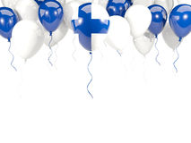 Flag of finland on balloons. Flag of finland, with balloons frame isolated on white. 3D illustration Stock Photography