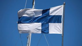 Flag of Finland stock video