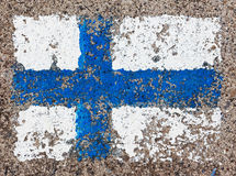 Flag of Finland on concrete wall Royalty Free Stock Photo