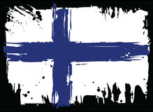 Flag Of Finland. Design element. A grunge splatted Flag Of Finland. Design element Stock Image