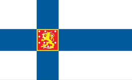 Flag of finland - finnish flag Stock Images