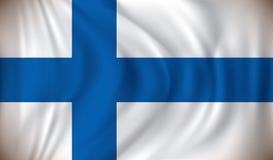 Flag of Finland. Vector illustration Stock Photos