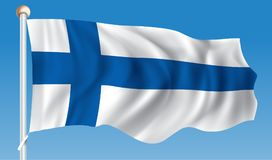 Flag of Finland. Vector illustration Royalty Free Stock Photos
