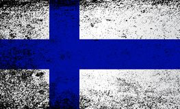 Flag of Finland Grunge. The flag of Finland in red and white stripes with grunge effect Royalty Free Stock Photography