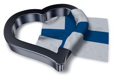 Flag of finland and heart Stock Photo