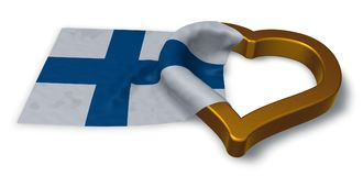 Flag of finland and heart symbol Royalty Free Stock Photography