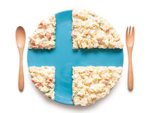 Flag of Finland made of salad Royalty Free Stock Image