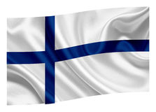 Flag of Finland. National flag of Finland on a white background Stock Photography