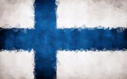 Flag of Finland polygon Stock Image