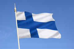 Flag of Finland - Scandinavia - Europe Royalty Free Stock Photo