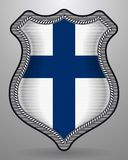 Flag of Finland. Vector Badge and Icon. With Central Glossy National Symbol Stock Images