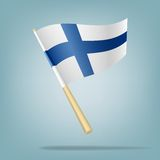 Flag of Finland, Vector illustration Royalty Free Stock Photos