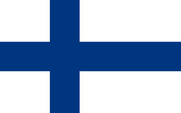 Flag of Finland, vector illustration Stock Photos