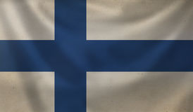 Flag of Finland. Vintage background with flag of Finland. Grunge style Stock Image