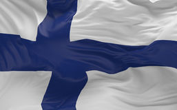 Flag of the Finland waving in the wind 3d render. National Flag of the Finland waving in the wind 3d render Royalty Free Stock Photos