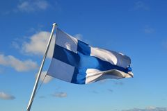 Flag of Finland Stock Photography