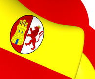 Flag of First Spanish Republic Stock Image