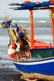 The Flag on fishing boat. Stock Photography