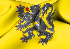 Flag of Flanders, Belgium. Royalty Free Stock Photography