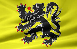 Flag of the flemish community - Belgium Stock Images