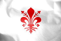 Flag of Florence, Italy. 3d Rendered Flag of Florence, Italy Stock Photo