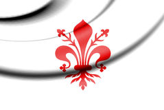 Flag of Florence, Italy. 3d Rendered Flag of Florence, Italy Stock Image