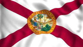 Flag florida US state symbol stock illustration