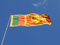 Flag. Fluttering flag of Sri Lanka country Royalty Free Stock Photography
