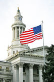Flag Flying at the Denver Civic Center Courthouse Stock Photography