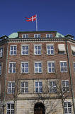 FLAG FLYS OVER DANISH MINISTRY OF DEFENCE Royalty Free Stock Image