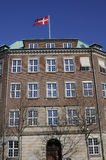 FLAG FLYS OVER DANISH MINISTRY OF DEFENCE Royalty Free Stock Images