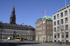 FLAG FLYS OVER DANISH MINISTRY OF DEFENCE Stock Photography
