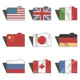 Flag folders Stock Image